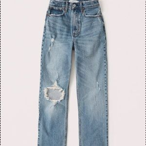 90s ultra high rise straight jeans